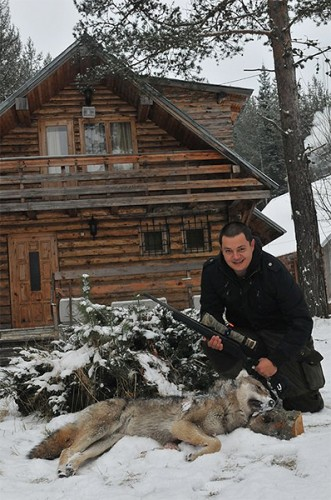 Wolf hunter in Bulgaria